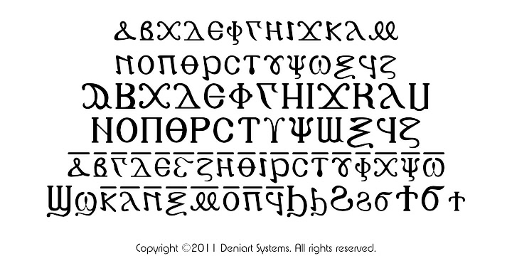Deniart Systems ANCIENT WRITINGS TWO Fonts