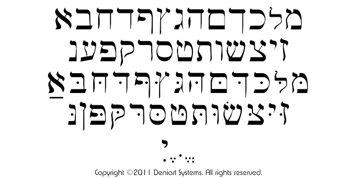 Deniart Systems: ANCIENT WRITINGS TWO Fonts